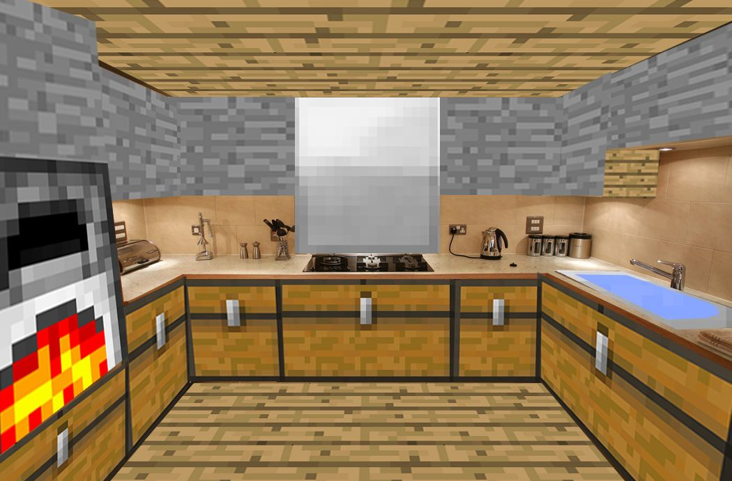 как сделать кухню в майнкрафт 1.7.2 #11