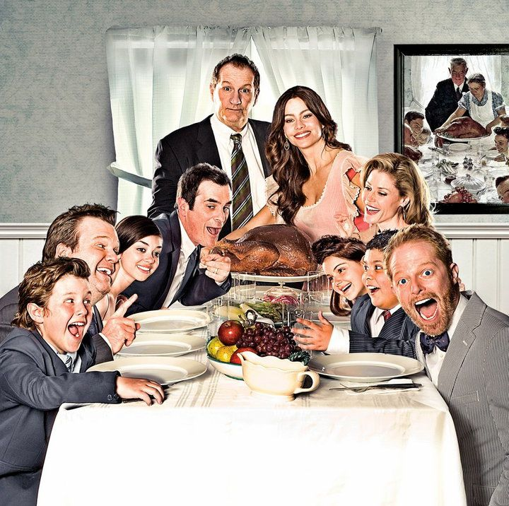 Modern Family An Old Fashioned Thanksgiving Modern Family Family Poster Little Reasons To Smile