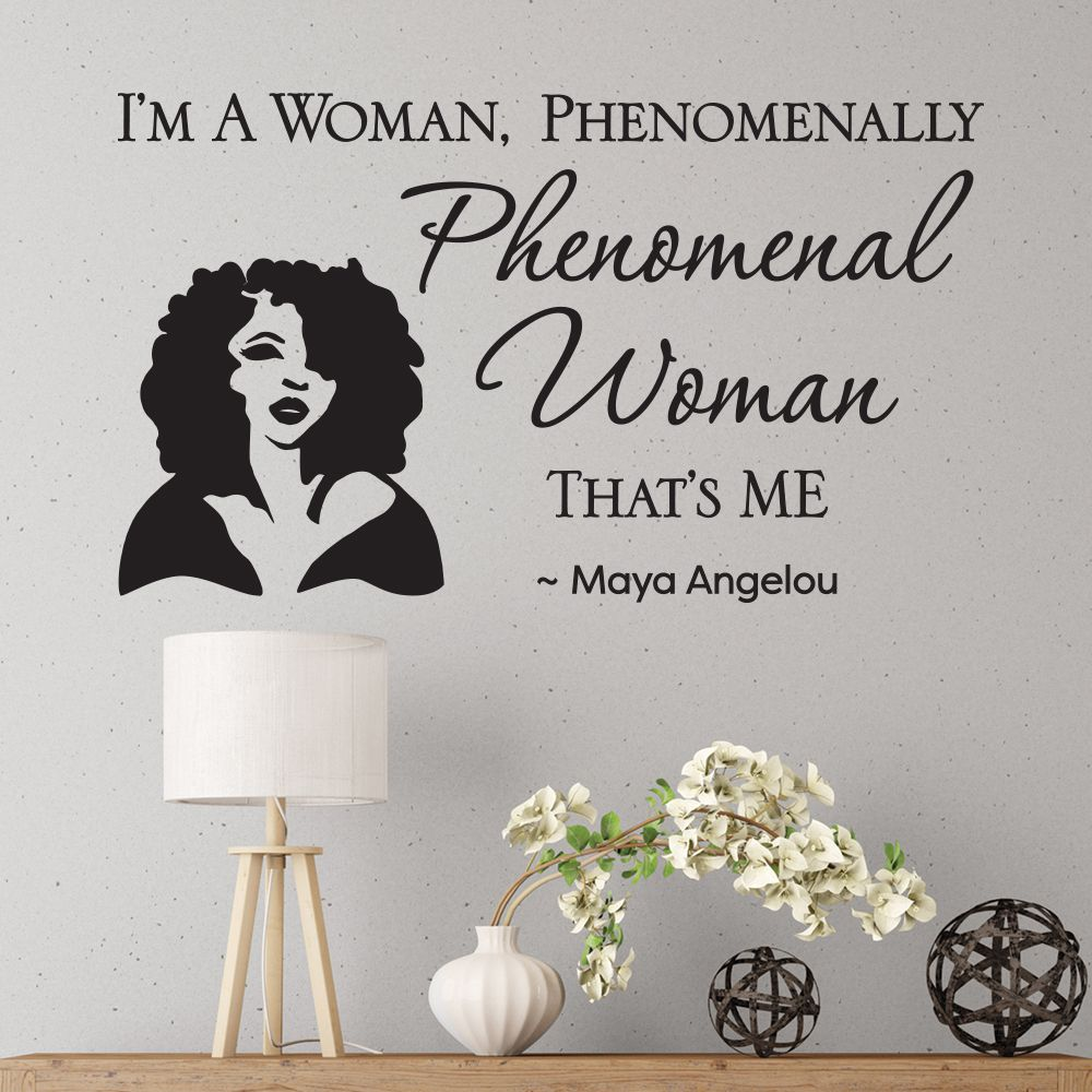 Wd05 Phenomenal Woman Wall Art Decal Decal Wall Art African