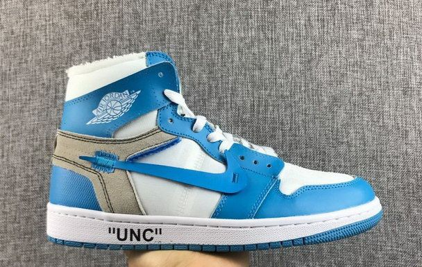 The 10 Air Jordan 1 Off White North Carolina Blue White Air