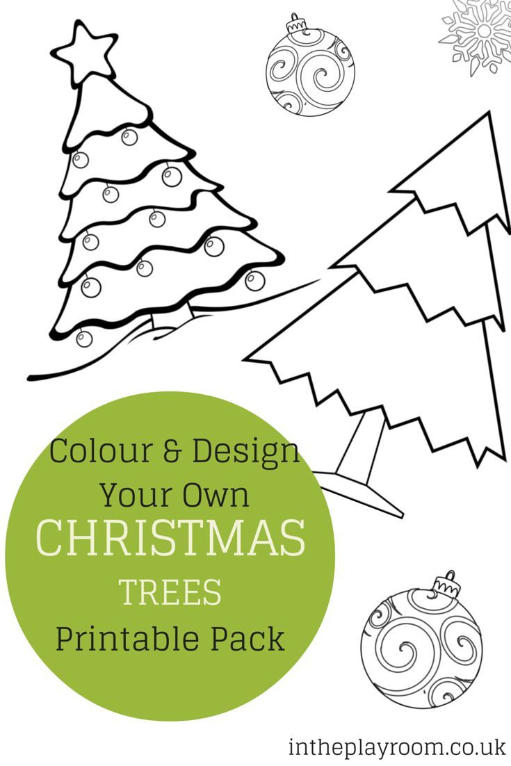 Colour and Design your own Christmas Tree Printables | Christmas tree
