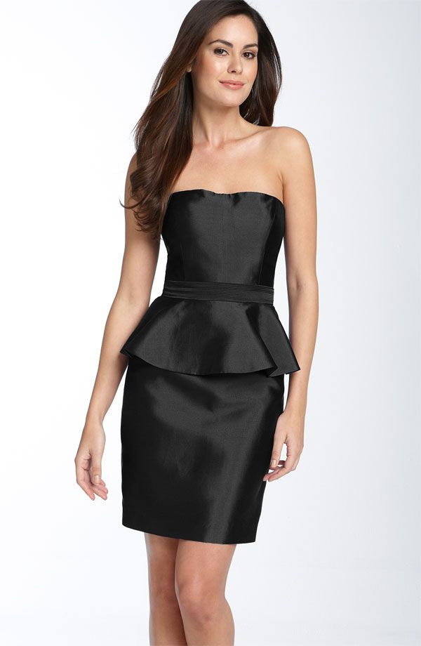 Simple Strapless Black Dress Chic Simple Black Strapless ...