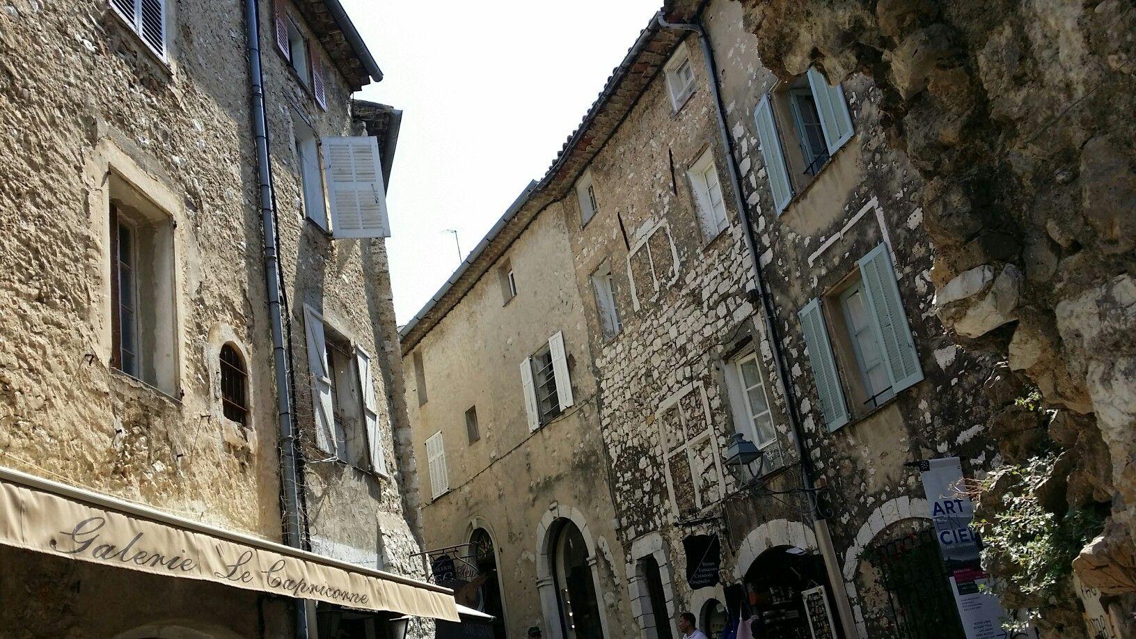 Old houses in Saint Paul de Vence. Provence. France