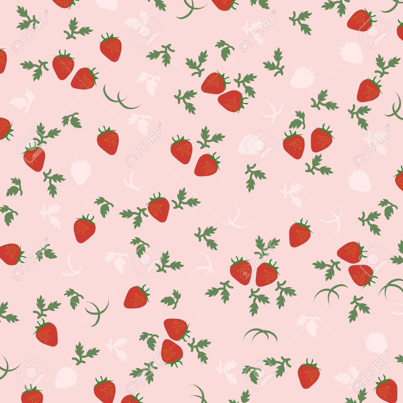Aesthetic Cute Strawberry Cow Wallpaper