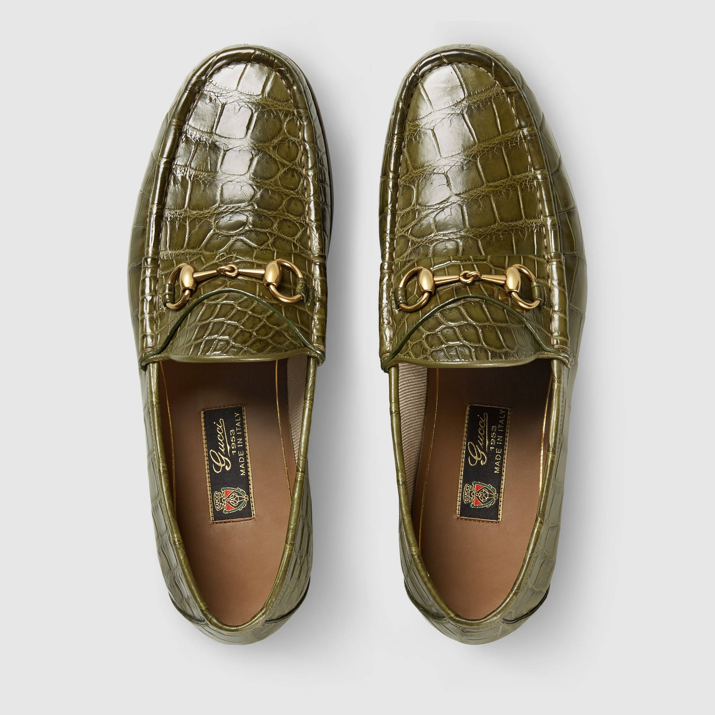 91c111ff5 Gucci Horsebit olive green croc loafer | All Men Everything in 2019 ...
