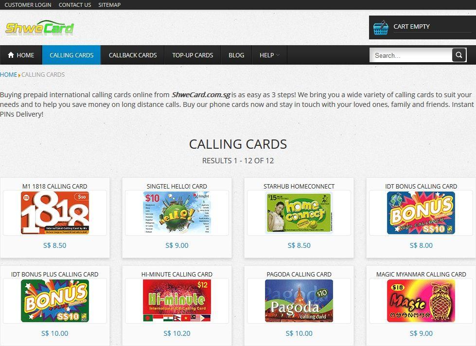 singapore prepaid international calling cards - Prepaid International Calling Cards