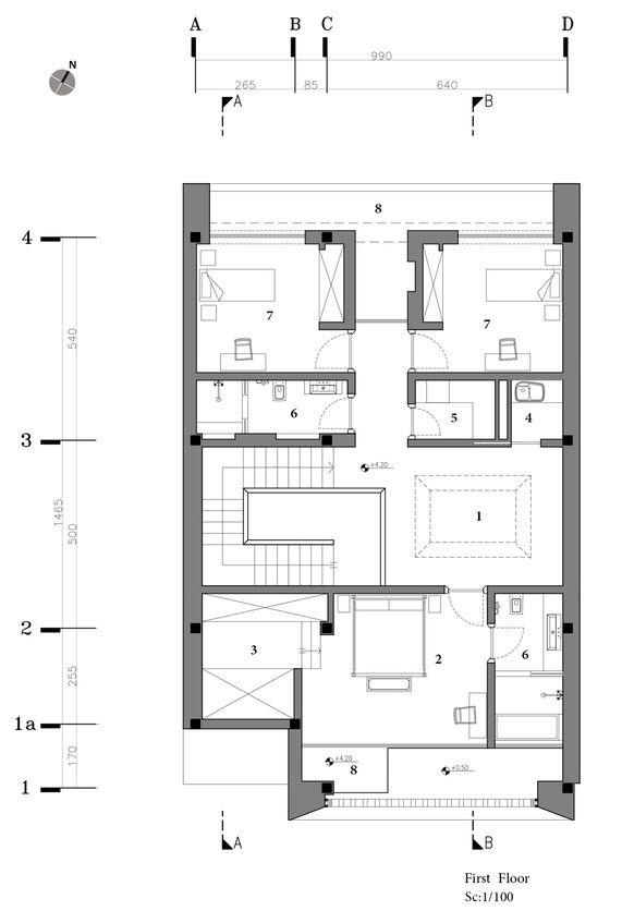 Diseño y planos de casa moderna de dos pisos, descubre una ...