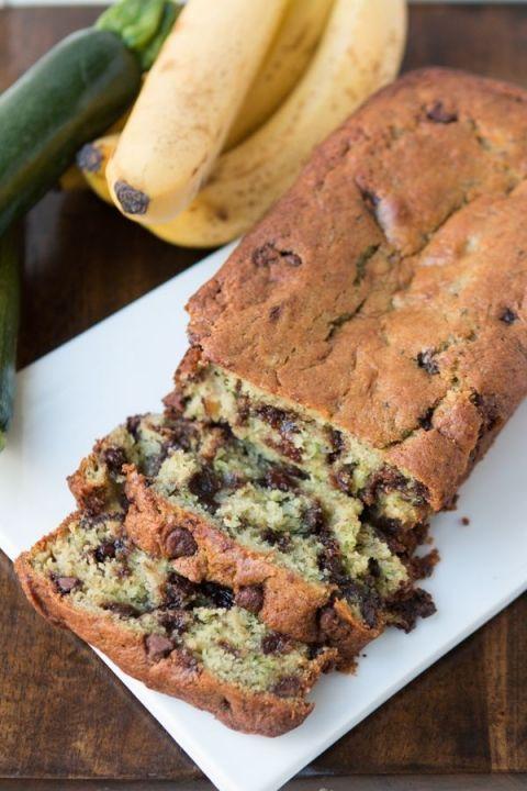 chocolate chip zucchini banana bread recipe  oh sweet