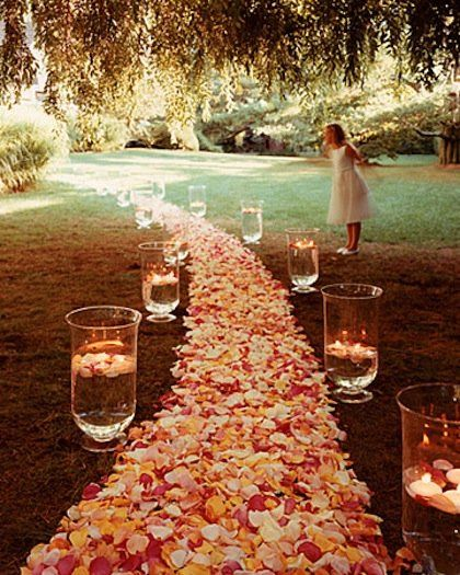 Proposals   light  candles  roses  romance  Weekly Faves  5 Inspiring Outdoor Spaces   Rose petals  Paths and  . Romantic Bedrooms With Roses And Candles. Home Design Ideas