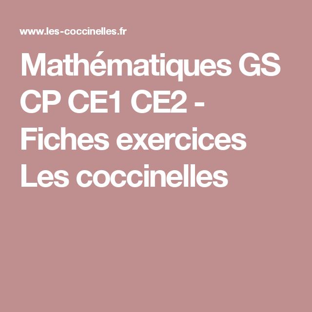 Mathématiques GS CP CE1 CE2 - Fiches exercices Les coccinelles