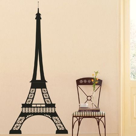 Whether beside the doorway or adorning an accent wall this eiffel tower decal fills your home with parisian charm product wall decalconstruction
