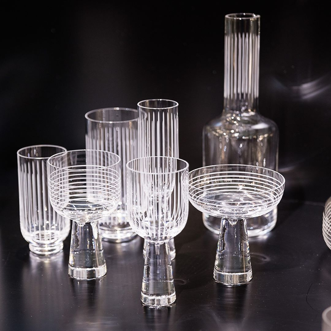 Lasvit On Instagram New Glassware Collections Otto By Yabupushelberg And Circle Glass Studiomilenakling Ar Glassware Collection Glass Ceramic Glass