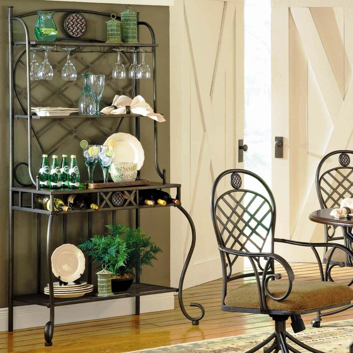 Awesome Steve Silver Wimberly Bakers Rack Kitchen Or Dining Room Decor Storage  Gift.I Just Like The Gray Wall Color :) Part 4