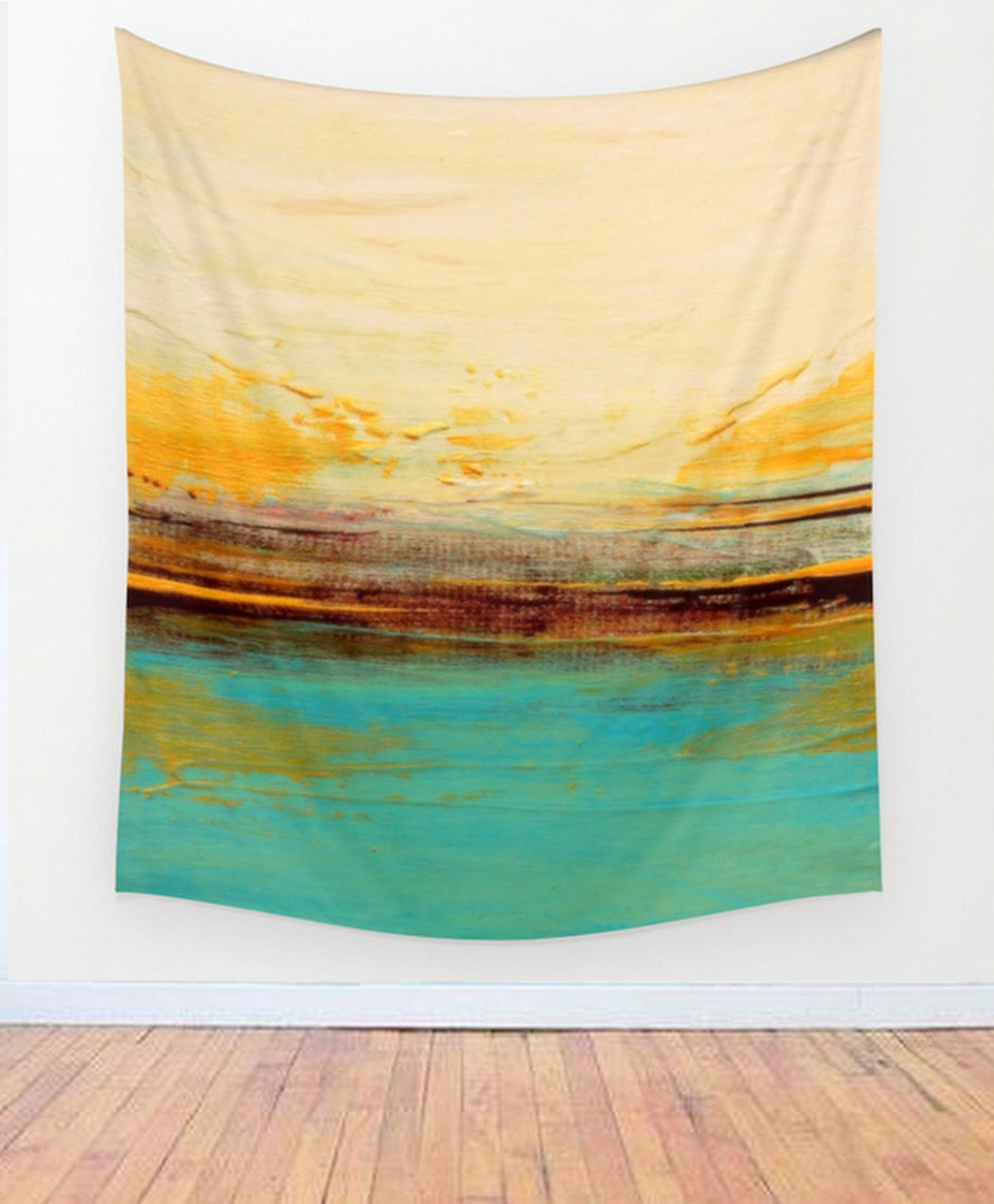 Horizon – Blue and White Wall Tapestry– Beach House Décor - Seascape ...