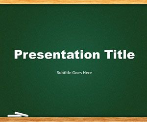 green chalkboard powerpoint template is a free template slide design
