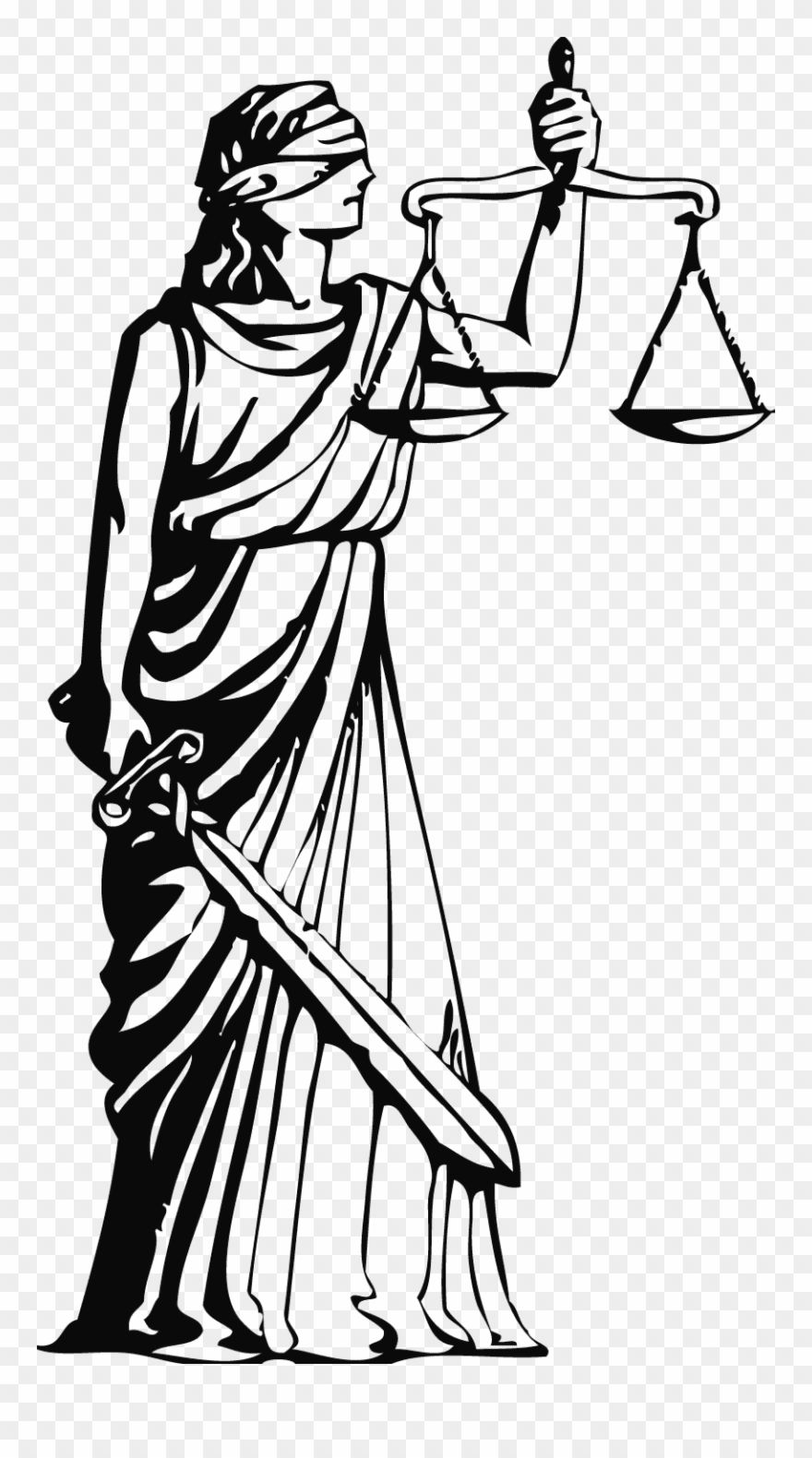 Constitution Clipart Black And White Lady Justice Image Transparent Png Download Lady Justice Clipart Black And White Clip Art