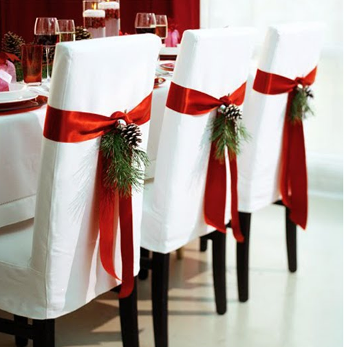 Deco De Chaises Pour Noel Deco De Noel Pinterest Navidad