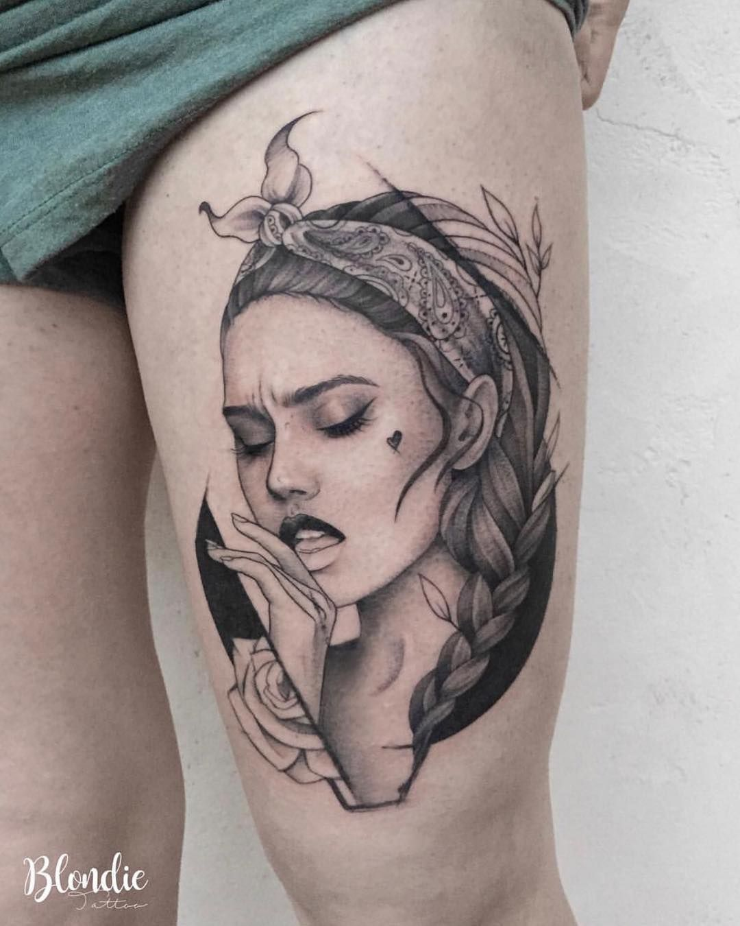 Girl Portrait Tattoo With Images Tattoo Artists Tattoos