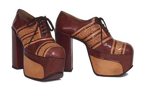 bbc64d3d3d152 1970s Fads The Platform Shoe | Mike's 60th | Fashion, Disco fashion ...