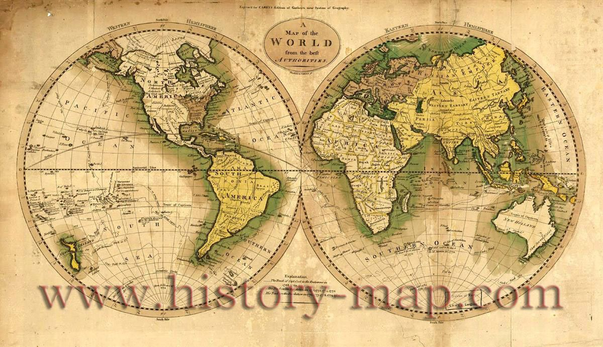 1700s world map antiques pinterest 1700s world map gumiabroncs Images