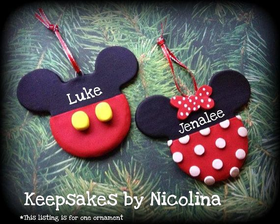 Personalized Mickey or Minnie Mouse Ornament - Personalized Mickey Or Minnie Mouse Ornament Christmas Ideas