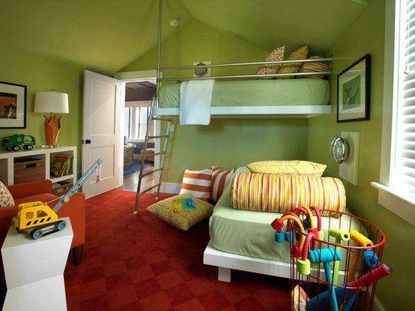 Grüntöne Wandfarbe sorgen für eine frische und ruhige ...