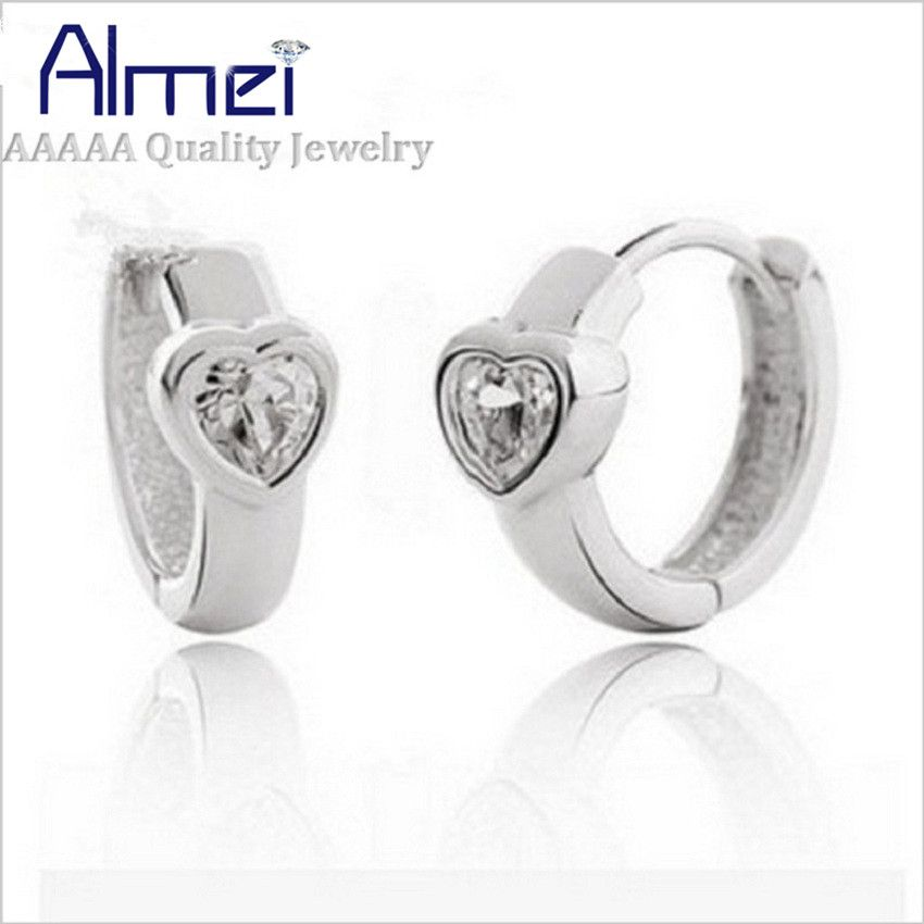 Find More Stud Earrings Information about Silver Plated Earrings Fashion Assessories Women Korean Charms Bijoux Boucle Doreille,Stud Earring Zircon with White Stone C54,High Quality earring cz,China earrings mask Suppliers, Cheap earring earphones from Almei Jewelry Store on Aliexpress.com