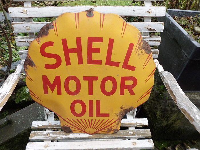 Online veilinghuis Catawiki: Enamel sign, Shell