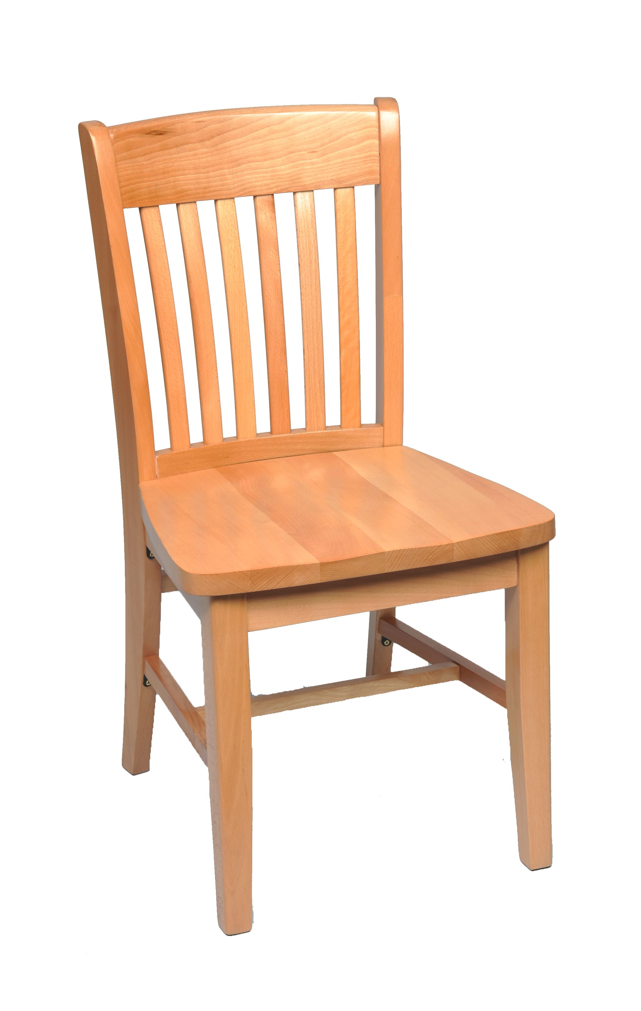 Solid wood dining chair schoolhouse solid wood dining for Wooden dining room chairs