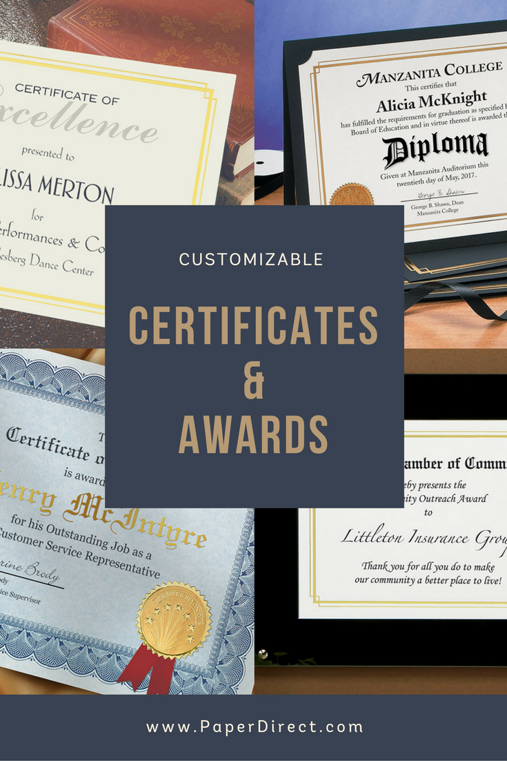 Certificates Certificate Jackets And Plaques Customizable And