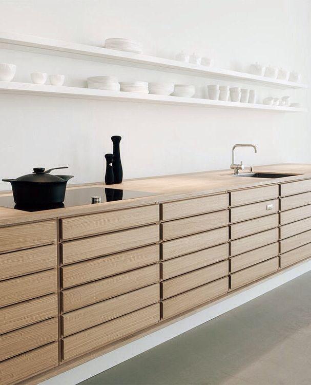Minimalistic uniform kitchen kitchen \ bar Pinterest Cocinas