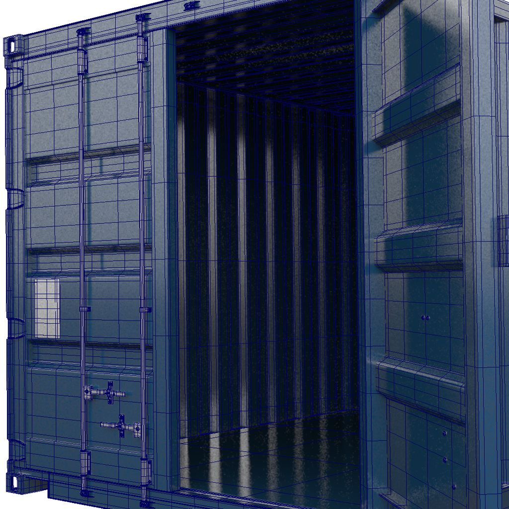 Shipping Cargo Container 3d Model Download Royalty Free Shipping