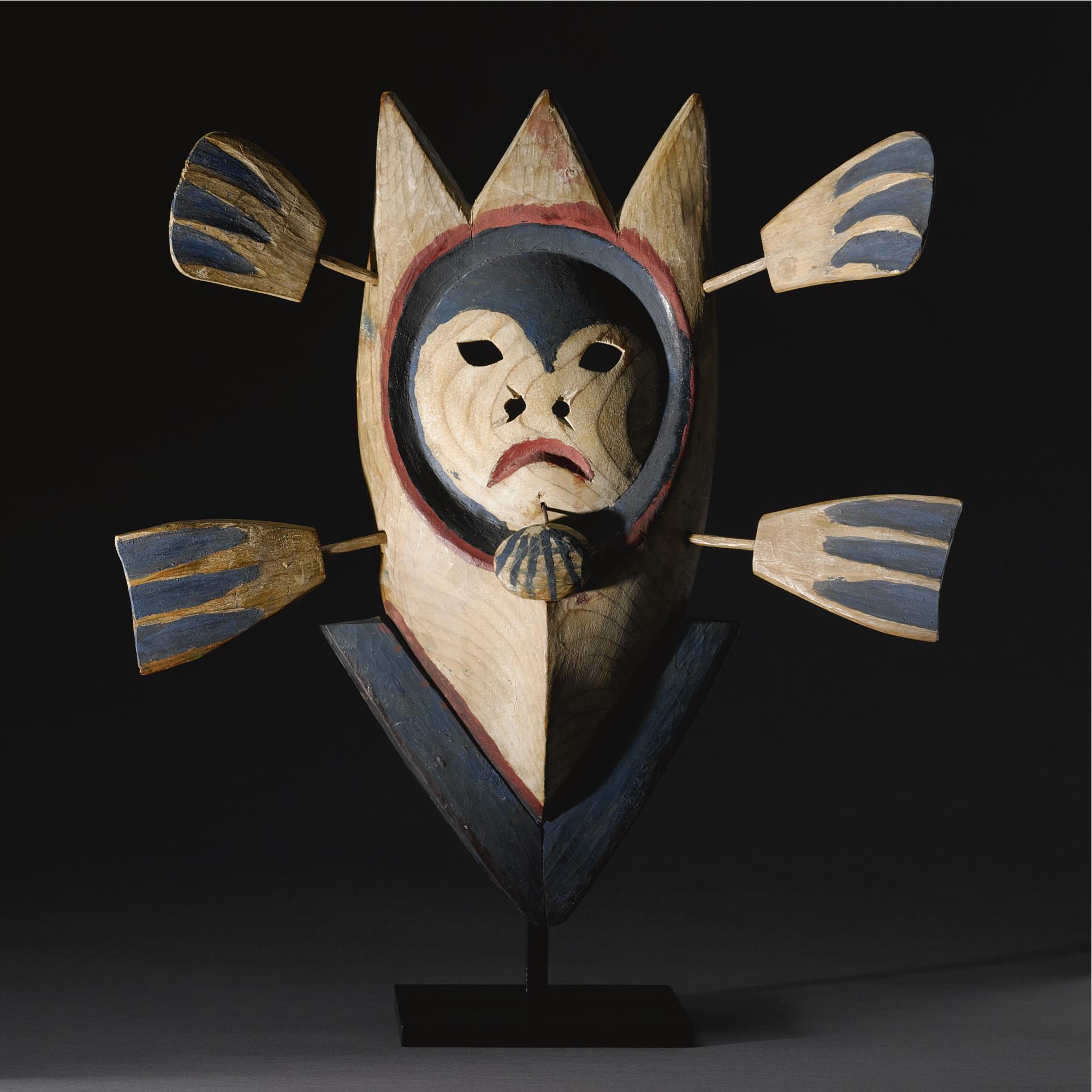 An Eskimo Polychromed Mask Probably Nunivak Island