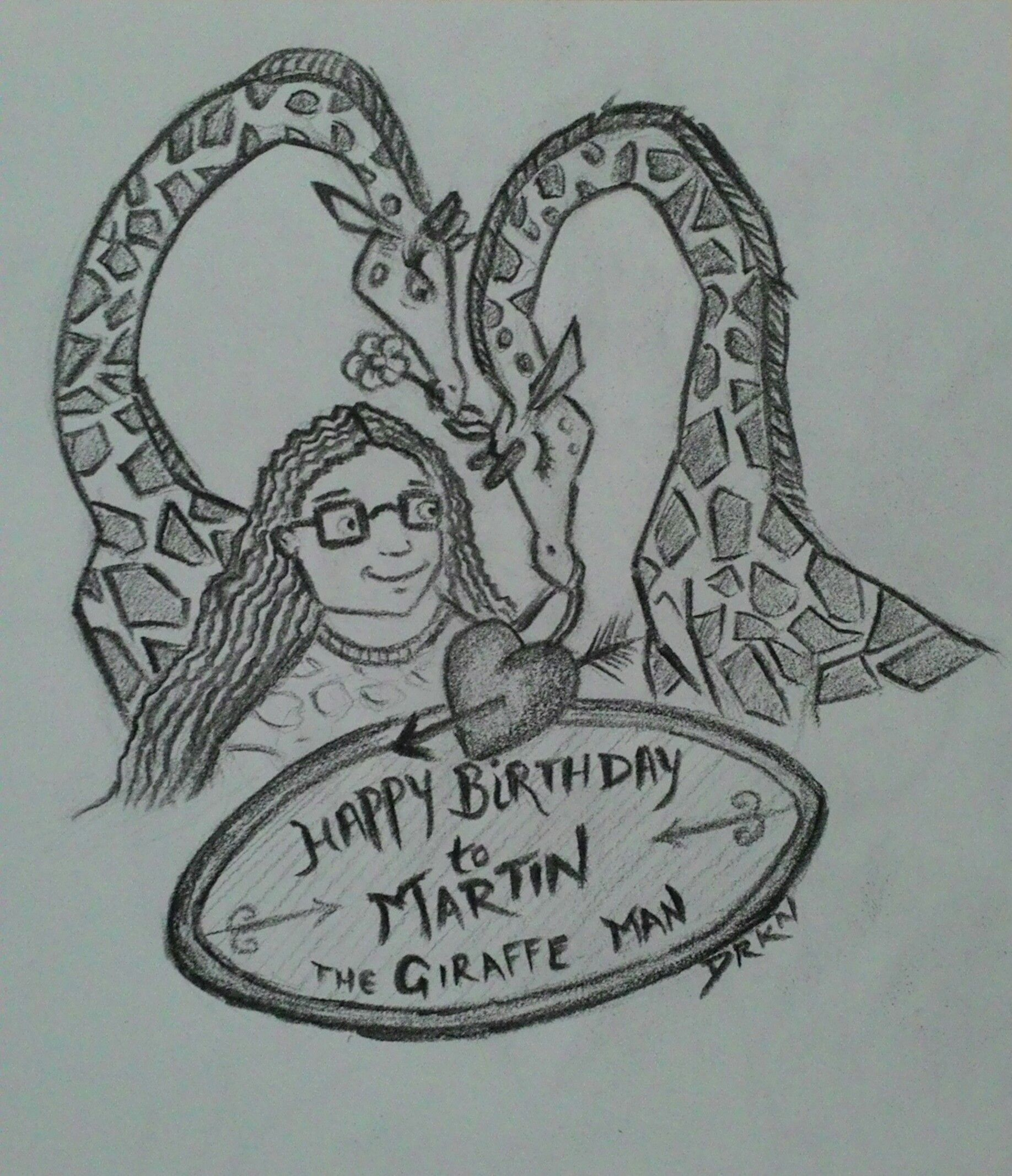 A quick sketch of my czech friend on his birthday wishing through my pencil he loves giraffes