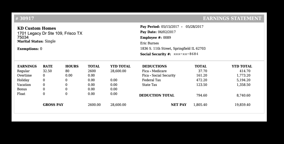 paycheck stubs set short fake in 2019 payroll checks. Black Bedroom Furniture Sets. Home Design Ideas