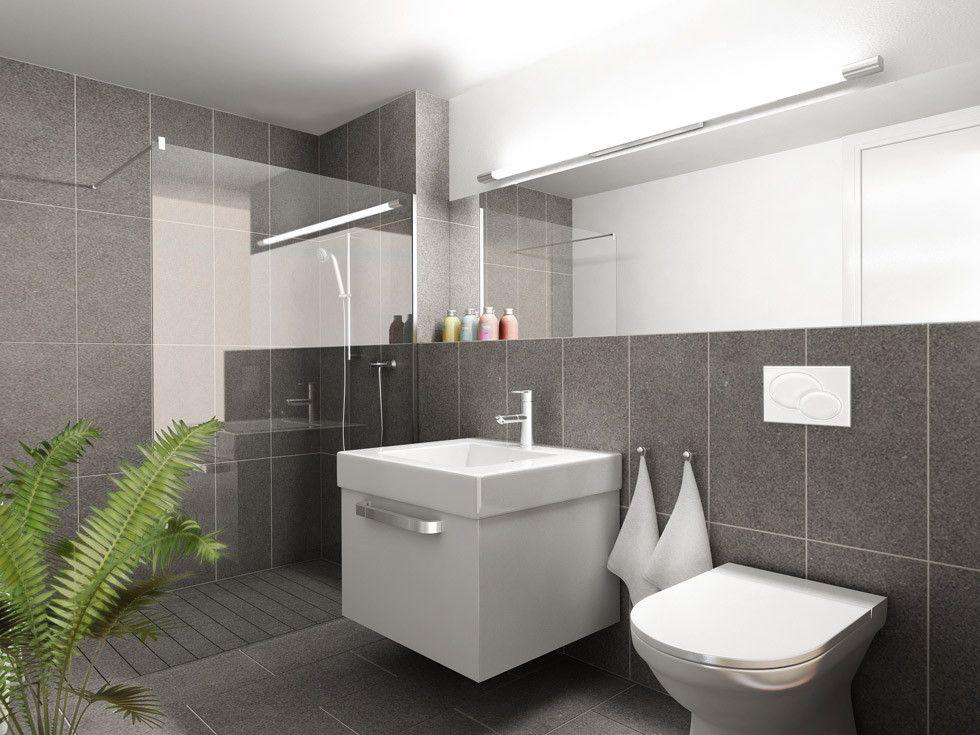 Bildergebnis für badezimmer modern   Bad farben grau ...
