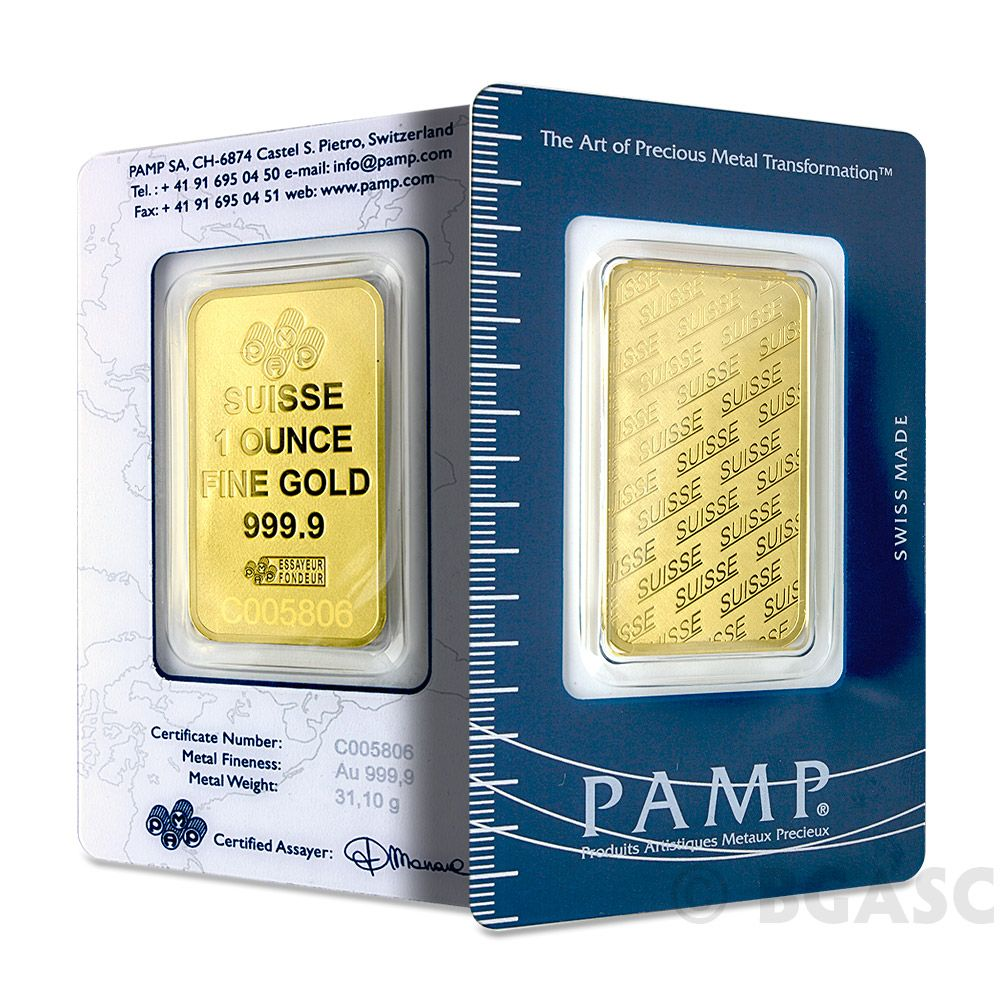 1 Oz Pamp Suisse Logo Gold Bullion Sealed Bar Swiss W Assay 9999 Fine 24kt Gold The Logo Bar Features A Reverse Proof St Gold Bar Gold Bullion Vintage Gold