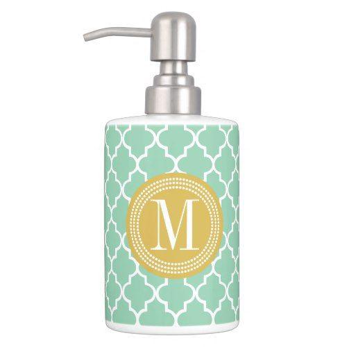 Dark Mint Moroccan Tiles Lattice Personalized Bathroom Set Zazzle Com Personalized Bathroom Moroccan Tiles Bathroom Sets