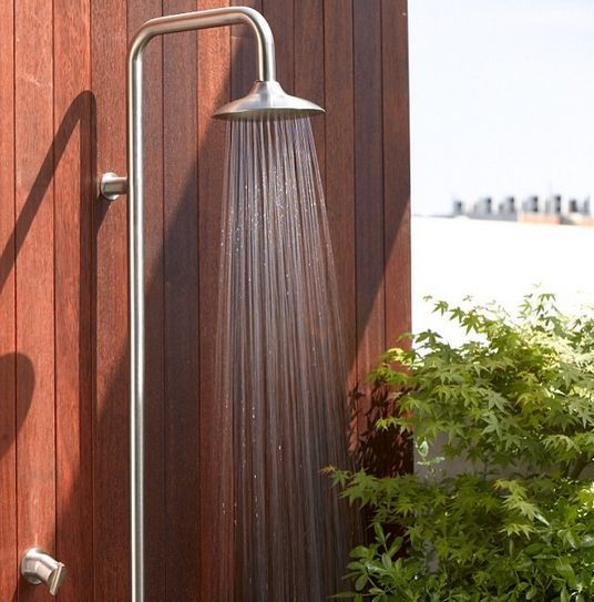 The Sussex Moonsoon Hot And Cold Shower Column Is A Australian Made Stainless Steel Shower Option Made From 316 Mari With Images Outdoor Shower Shower Columns Pool Shower