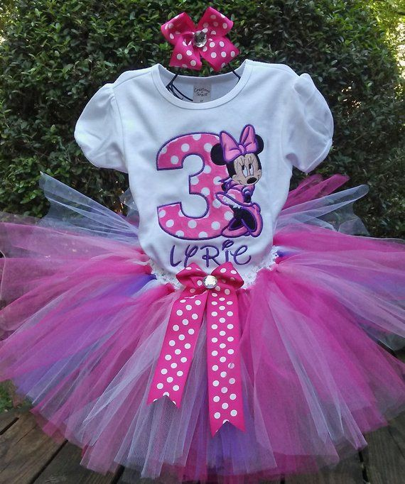 d5a592056 Pink and Purple Minnie Mouse 3rd Birthday Outfit 3rd Birthday Shirt Pink Minnie  Mouse Birthday Shir