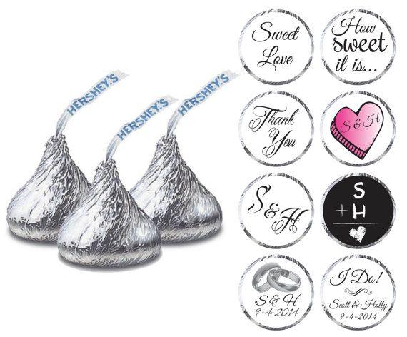 Printable Wedding Hershey Kiss Labels Personalized Wedding Favors Wedding Hershey Kisses Personalized Wedding Favors Wedding Favors