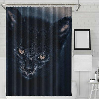 World Menagerie Dunlop Halloween Cat Single Shower Curtain Hooks In 2020 Halloween Shower Curtain Cat Shower Curtain Shower Curtain Hooks