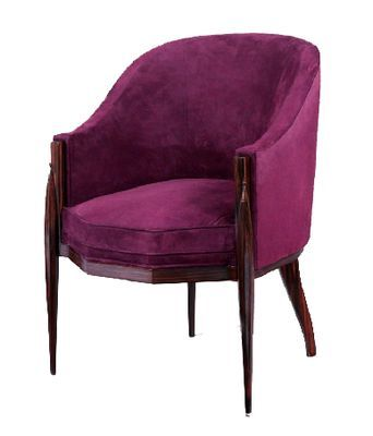 the above image is an armchair by one of the most famous art deco