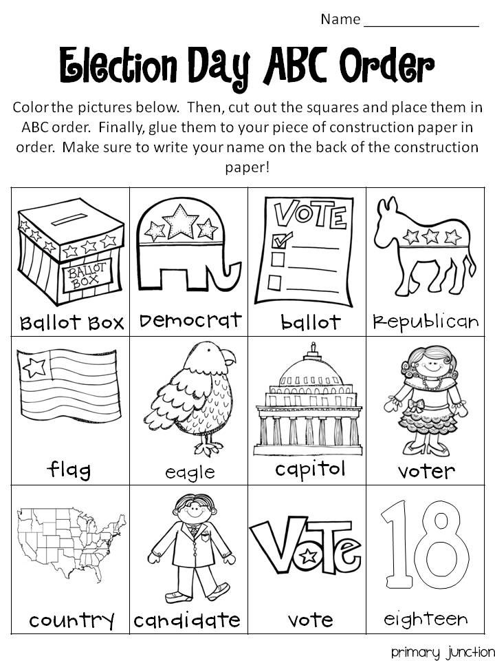 Election Day Freebie – Election Day Worksheets