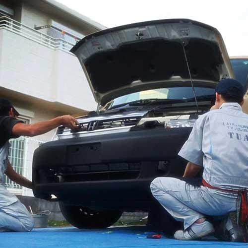 塗り方 刷毛 ハケ ローラーで車をdiyで全塗装しよう バモス カスタム 車の塗装 車