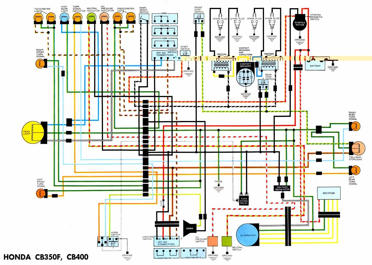 Electrical Wiring Diagram, Cb350, Circuit Diagram, Honda Motorcycles, Cars  And Motorcycles,