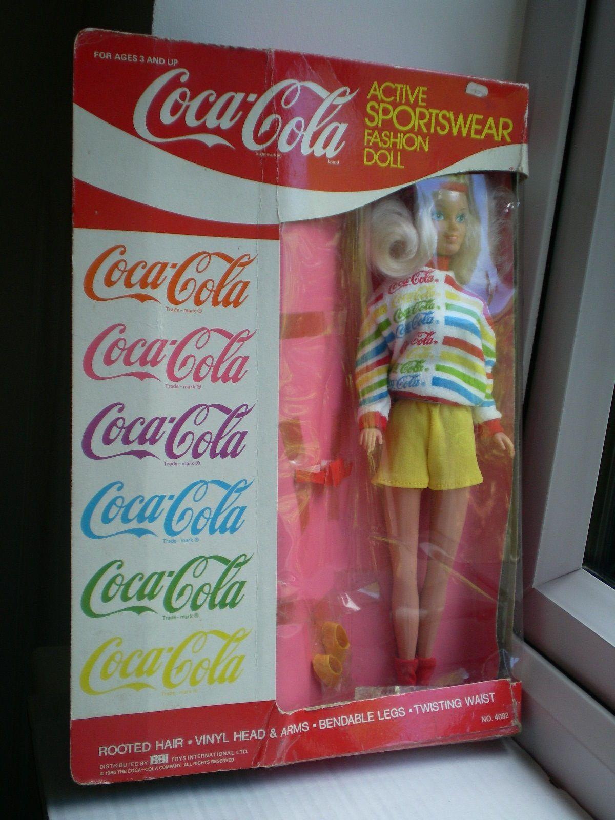 Vintage Coca Cola Active Sportswear Sport Fitness Barbie Size 115