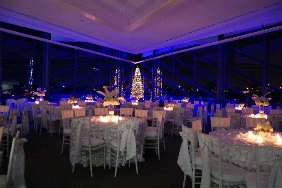 Winter Wedding White And Silver Devon Boathouse Okc