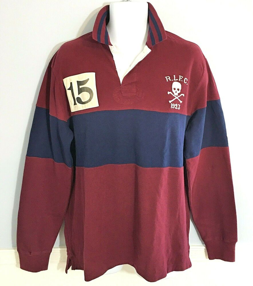 75b445287 Ralph Lauren Polo Rugby Skull Crossbones Shirt Men's XL Custom Slim Fit NWT  | eBay