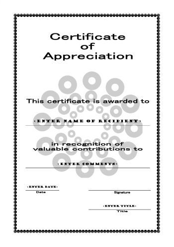 Free Printable Certificates Of Appreciation  ReuniongG
